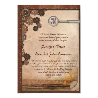 Steampunk Mechanical Writing Set Wedding Invites