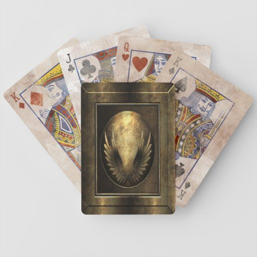 Steampunk Metal Deck Of Cards