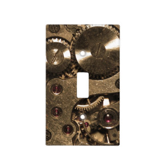 Steampunk Metal Gears Light Switch Cover
