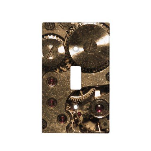 Steampunk Metal Gears Light Switch Covers Zazzle