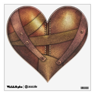Steampunk Metal  Heart 1 Wall Decal