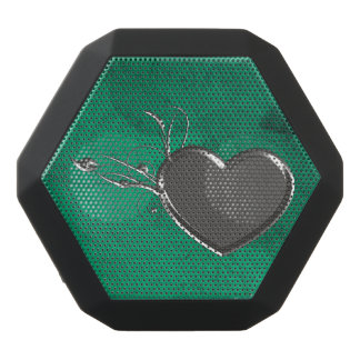 Steampunk Metal Heart Black Bluetooth Speaker