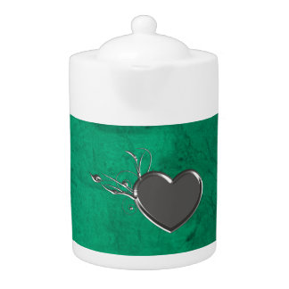 Steampunk Metal Heart Teapot