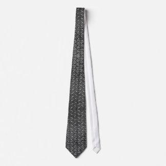 STEAMPUNK Metallic Steel Plating Stud Tie