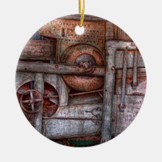Steampunk - mi máquina nueva y mejorada adorno redondo de cerámica