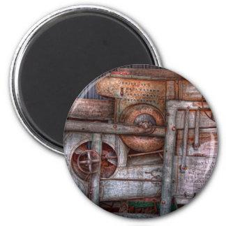 Steampunk - mi máquina nueva y mejorada imán redondo 5 cm