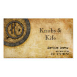 Steampunk Monogram Antique K Business Card Template