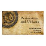 Steampunk Monogram Antique R Business Card Template