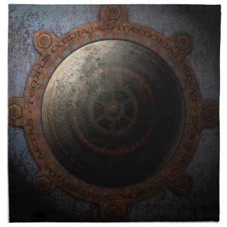 Steampunk Moon Clock Time Metal Gears Cloth Napkin