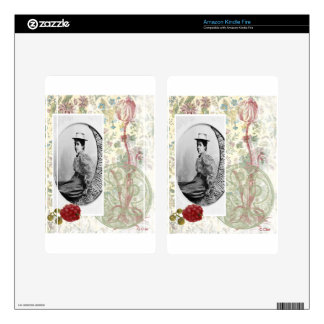 Steampunk Moon Victorian Lady Woman Vintage Photo Decals For Kindle Fire