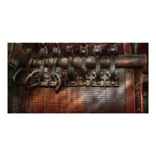 Steampunk - motorizado tarjetas fotográficas personalizadas
