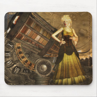 Steampunk Mousepad With Telescopic Dream