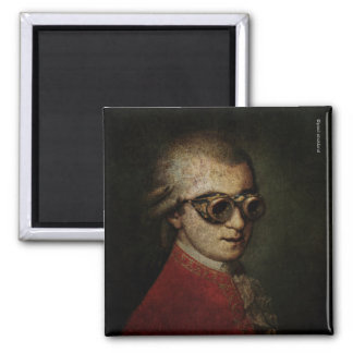 Steampunk Mozart 2 Inch Square Magnet