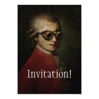 Steampunk Mozart Card