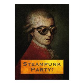 Steampunk Mozart Custom Party Card