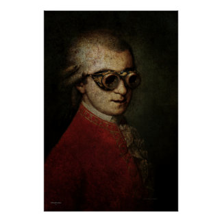 Steampunk Mozart Print