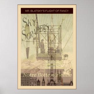 SteamPunk ~ Mr. Blatsky's Flight Of Fancy Poster