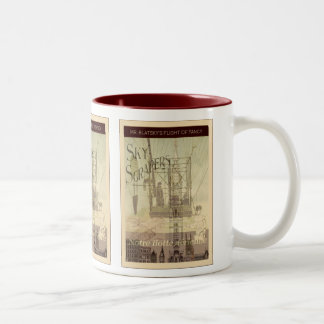 SteamPunk ~ Mr. Blatsky's Flight Of Fancy Two-Tone Coffee Mug