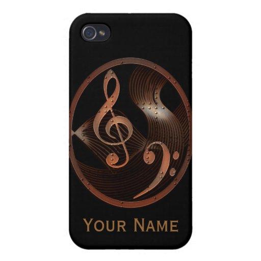 Steampunk Music Design iPhone 4 case