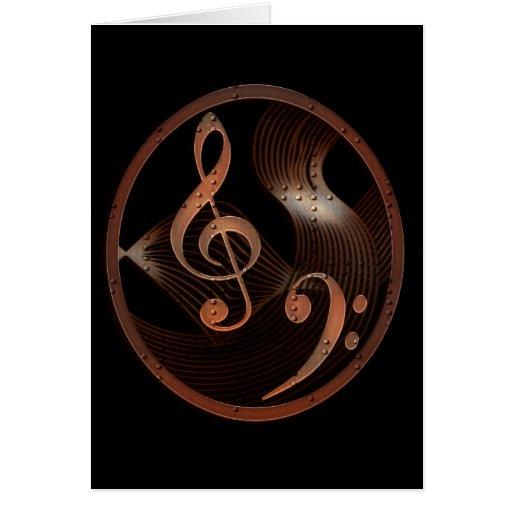 Steampunk Music Design note card