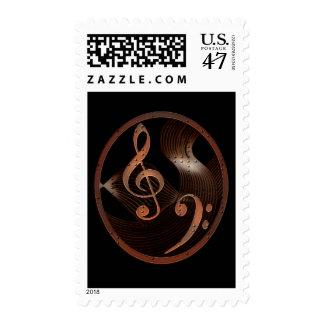Steampunk Music Design postage stamp