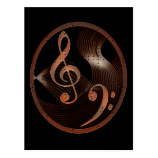 Steampunk Music Design postcard
