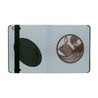 Steampunk Music Metal blue floral iPad Cases