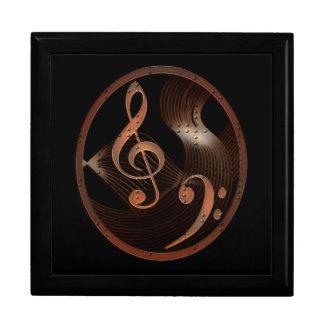 Steampunk Music wooden keepsake jewelry gift box
