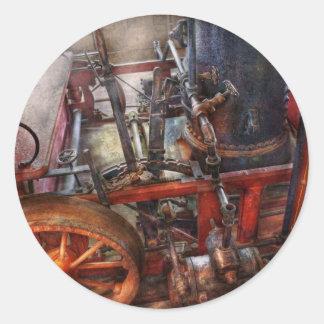 Steampunk - My transportation device Round Sticker