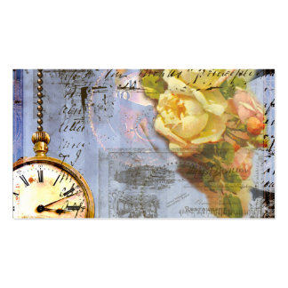 Steampunk n Roses Timepiece Business Cards