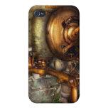 Steampunk - naval - cierre la válvula iPhone 4 protectores