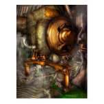 Steampunk - naval - cierre la válvula tarjeta postal