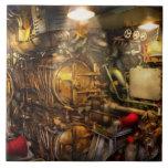 Steampunk - naval - el cuarto del torpedo azulejo ceramica