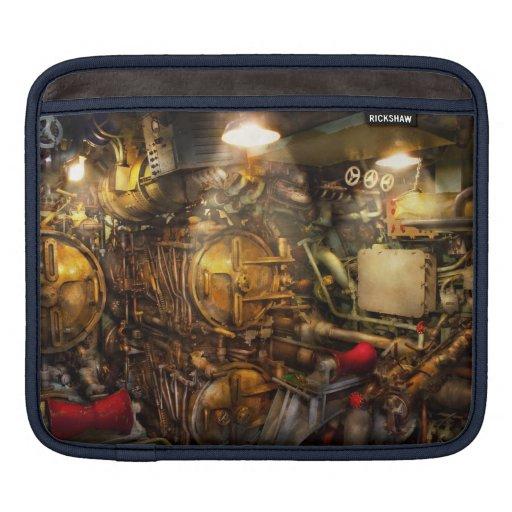 Steampunk - naval - el cuarto del torpedo fundas para iPads