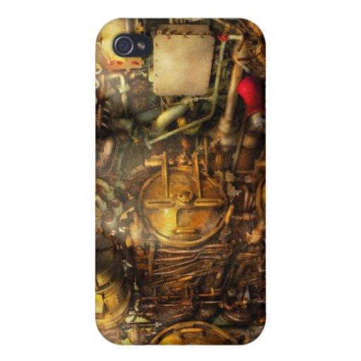Steampunk - naval - el cuarto del torpedo iPhone 4 cobertura