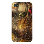 Steampunk - naval - el cuarto del torpedo iPhone 4 carcasa