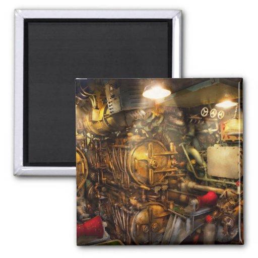 Steampunk - naval - el cuarto del torpedo imanes para frigoríficos