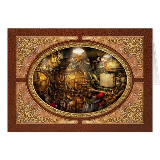 Steampunk - naval - el cuarto del torpedo tarjeta de felicitación