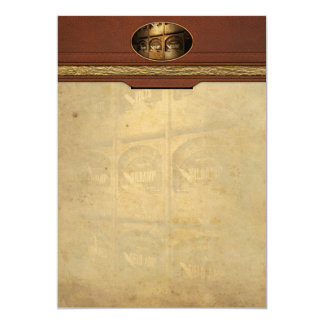 Steampunk - Naval - Electric - Power Grid 5x7 Paper Invitation Card