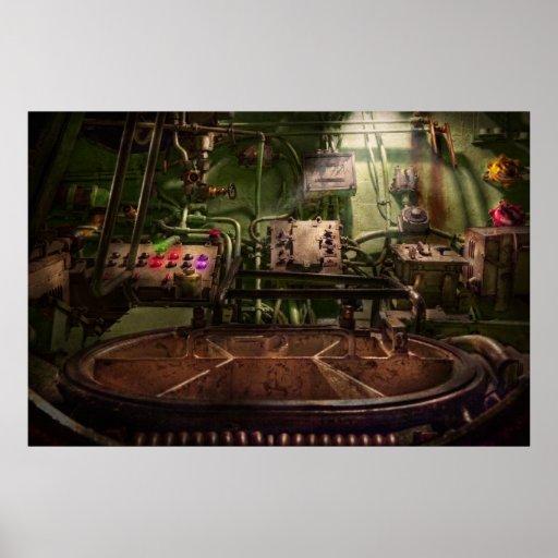 Steampunk - naval - esto es donde hago mi trabajo poster