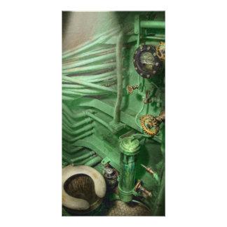 Steampunk - naval - fontanería - la cabeza tarjetas con fotos personalizadas