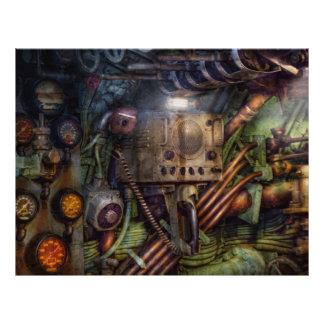 Steampunk - naval - la estación del comm tarjeta publicitaria