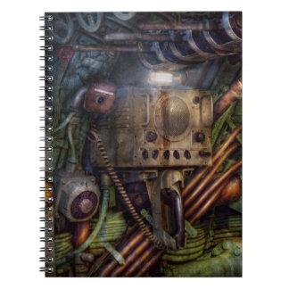 Steampunk - naval - la estación del comm cuadernos