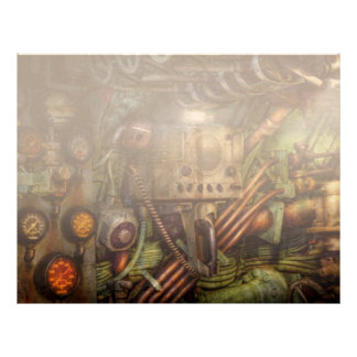 Steampunk - naval - la estación del comm membretes personalizados