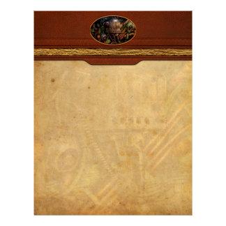 Steampunk - naval - la estación del comm plantilla de membrete