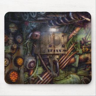 Steampunk - naval - la estación del comm tapetes de ratón