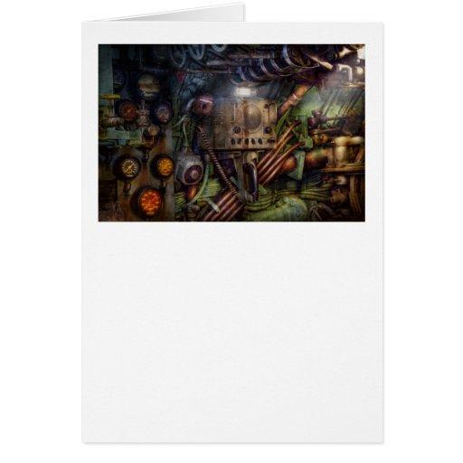Steampunk - naval - la estación del comm tarjeta de felicitación