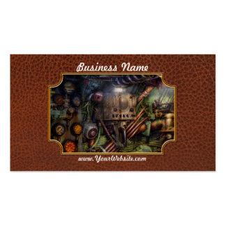 Steampunk - naval - la estación del comm plantillas de tarjetas de visita