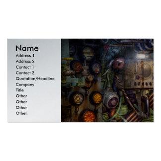 Steampunk - naval - la estación del comm tarjeta de visita