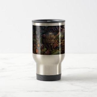 Steampunk - naval - la estación del comm tazas de café